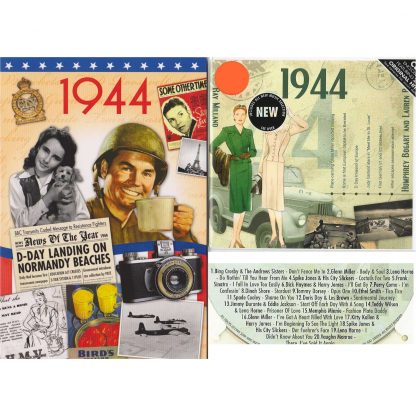 74th Anniversary or Birthday gifts CD & DVD ~ Revisit the Music and News of 1944