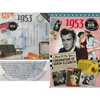 65th Anniversary or Birthday gifts CD & DVD ~ Revisit the Music and News of 1953 items view