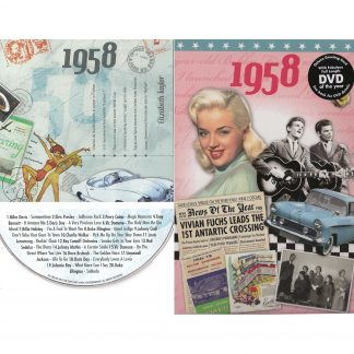 60th Anniversary or Birthday gifts CD & DVD ~ Revisit the Music and News of 1958