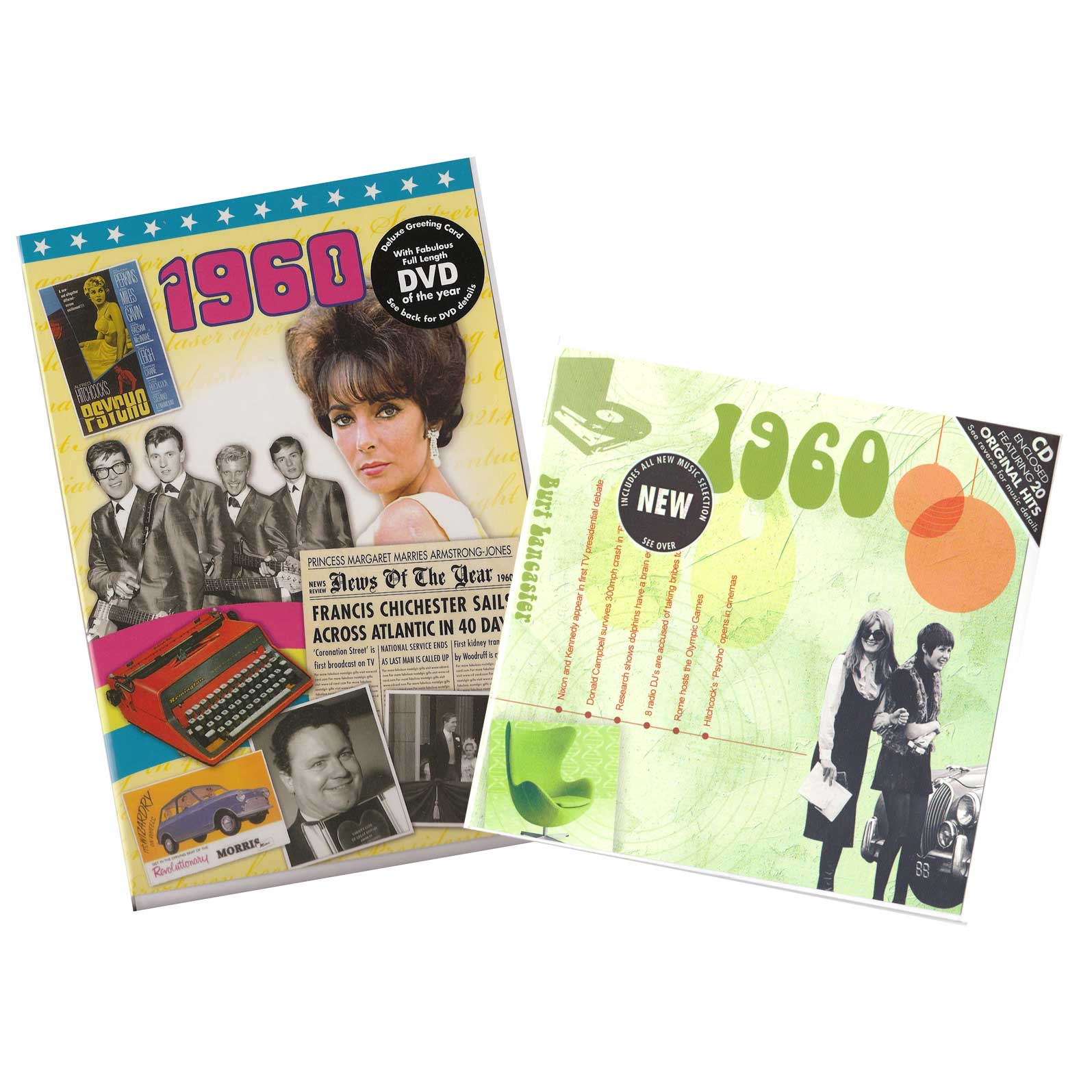58th Anniversary or Birthday gifts CD & DVD ~ Revisit the Music and News of 1960 items view
