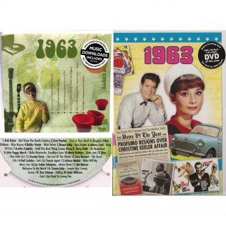 55th Anniversary or Birthday gifts CD & DVD ~ Revisit the Music and News of 1963 items view