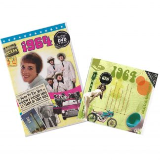 54th Anniversary or Birthday gifts CD & DVD ~ Revisit the Music and News of 1964
