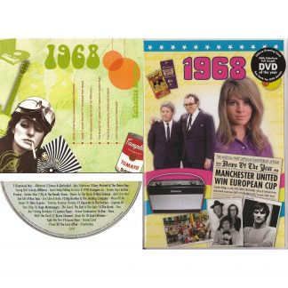 50th Anniversary or Birthday gifts CD & DVD ~ Revisit the Music and News of 1968 items view
