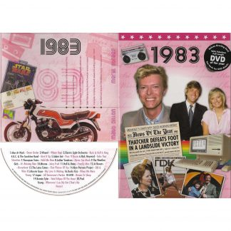 35th Anniversary or Birthday gifts CD & DVD ~ Revisit the Music and News of 1983 items view