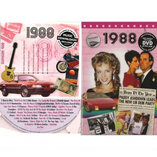 30th Anniversary or Birthday gifts CD & DVD ~ Revisit the Music and News of 1988 items view