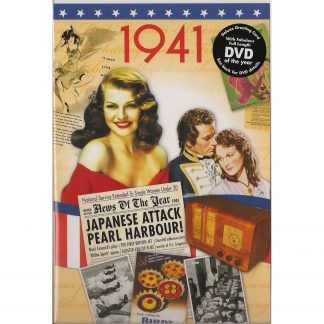 77th Anniversary gift ~ DVD with Memories from 1941 and a Greeting Card in one front view