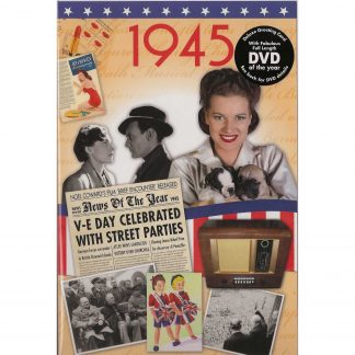 73rd Anniversary gift ~ DVD with Memories from 1945 and a Greeting Card in one front view