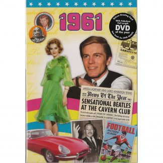 57th Anniversary gift ~ DVD with Memories from 1961 and a Greeting Card in one front view