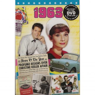 55th Emerald Wedding Anniversary gift ~ Reminisce 1963 with DVD and Greeting Card front view