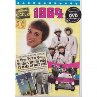 54th Anniversary gift ~ DVD with Memories from 1964 and a Greeting Card in one front view