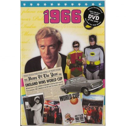 52nd Anniversary gift ~ DVD with Memories from 1966 and a Greeting Card in one front view