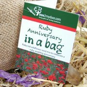 Ruby Anniversary Rose and Seed gift set