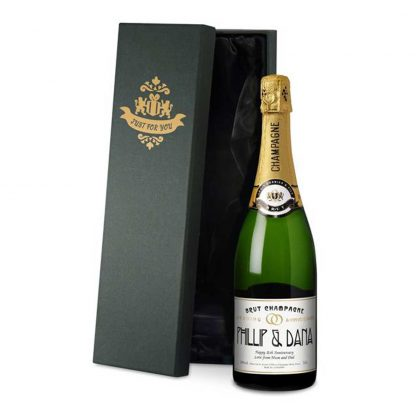Personalised Wedding Anniversary Champagne
