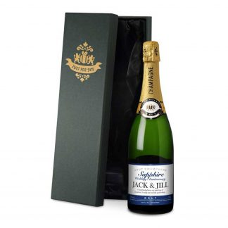 Sapphire Wedding 45th Anniversary Personalised Champagne
