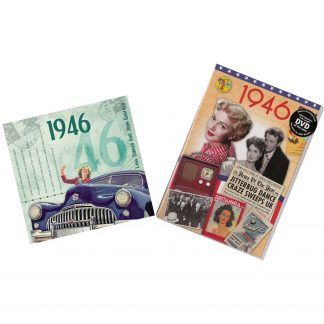 72nd Anniversary or Birthday gifts CD & DVD ~ Revisit the Music & News of 1946