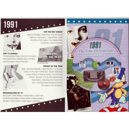 27th Anniversary Gift ~ DVD With Memories From 1991 And A Greeting Card In One inside