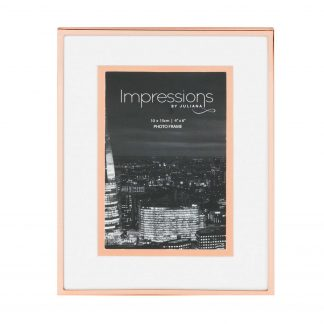 "Impressions Copper Finish Photo Frame with Copper Bordered Mount 4"" x 6"""