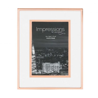 """Impressions Copper Finish Photo Frame with Copper Bordered Mount 4"""" x 6"""""""