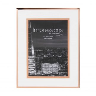 "Impressions Copper Finished Photo Frame with Copper Bordered Mount 5"" x 7"""