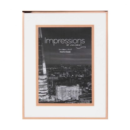 """Impressions Copper Finished Photo Frame with Copper Bordered Mount 5"""" x 7"""""""
