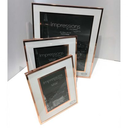 """Impressions Copper Finished Photo Frame with Copper Bordered Mount 8"""" x 10"""""""