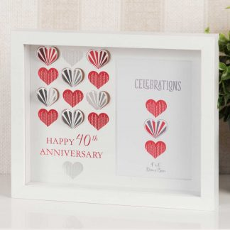 Ruby Wedding 40th Anniversary Box Photo Frame
