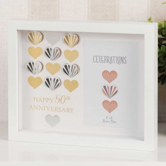 Golden Wedding 50th Anniversary Box Photo Frame wg97250