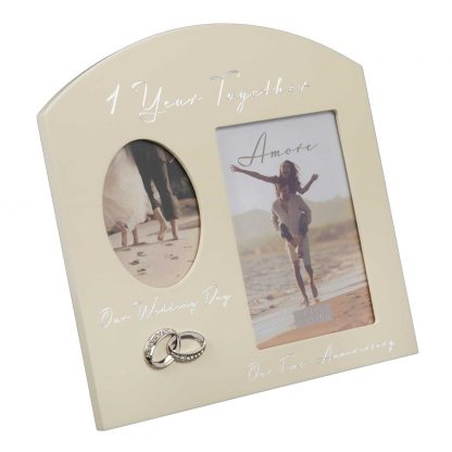 1st year wedding anniversary photo frame wg979