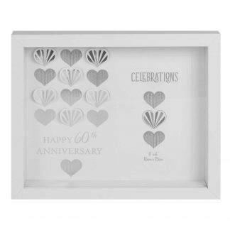 Diamond Wedding 60th Anniversary Box photo frame wb97260
