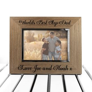 Personalised World's Best Step-Dad Wooden Frame