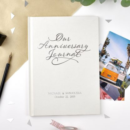 Personalised Our Anniversary Journal front cover
