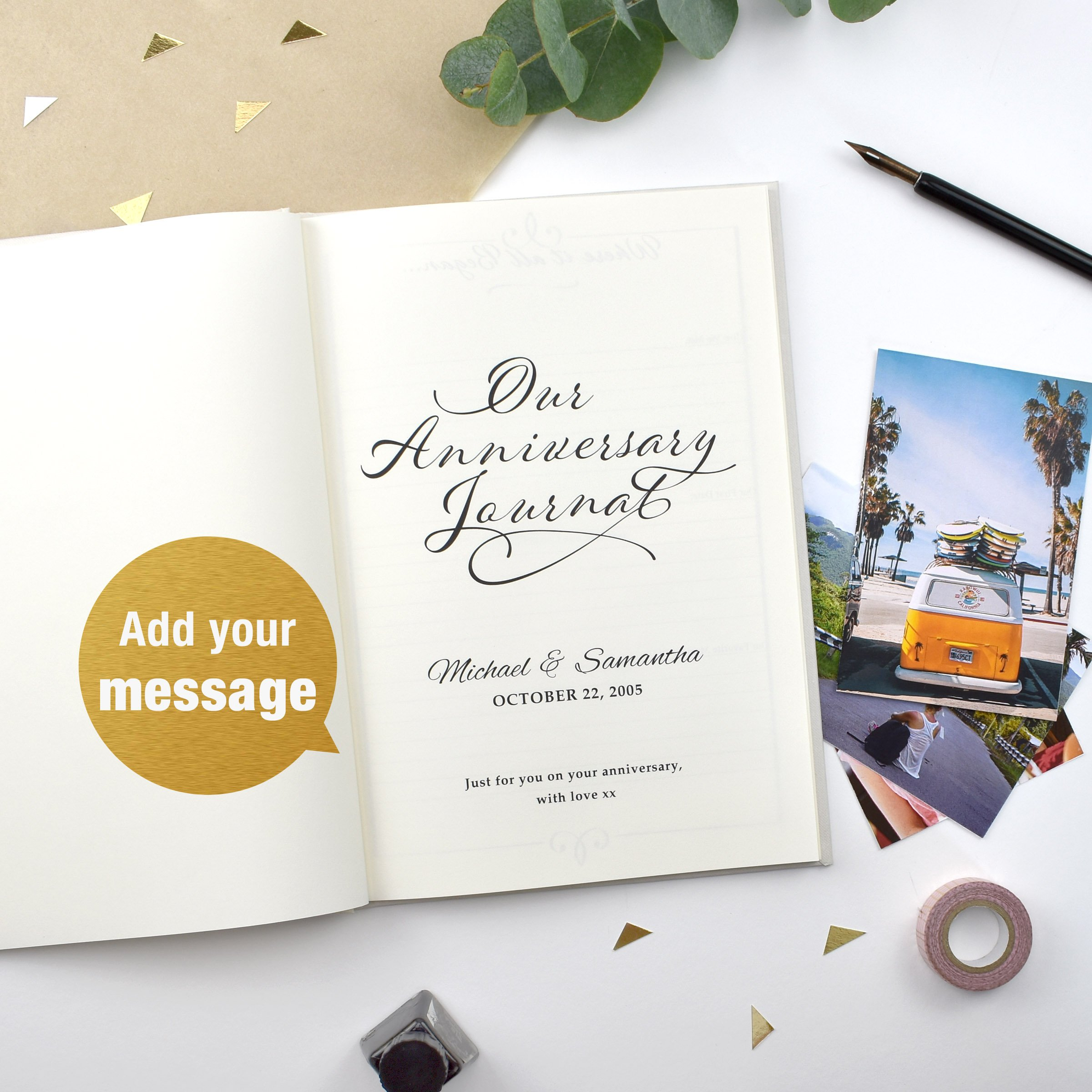 One Year Wedding Anniversary Gifts: Personalised 1st Wedding