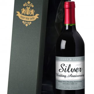 Personalised Silver Wedding 25th Anniversary Red Wine