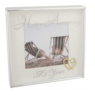 Happy Anniversary 50 years Photo Frame 3x3 285656