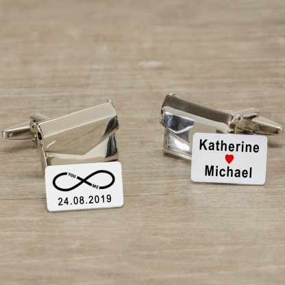 Personalised Cuff-links ~ Envelope with message inside