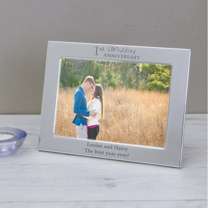 Silver-plated 1st Wedding Anniversary Photo Frame