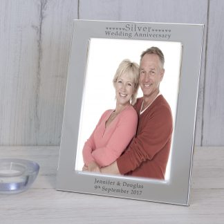 Silver Wedding Anniversary silver photo frame