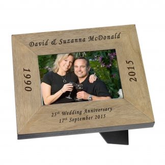 "Wedding Anniversary Wooden Frame 6""x 4"" (150mm x 100mm)"