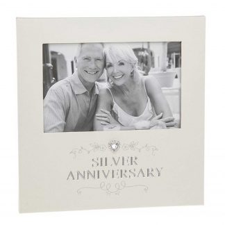 Silver Anniversary Photo Frame for 6 x 4 print