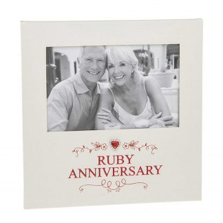 Ruby Anniversary Photo Frame 6 x 4
