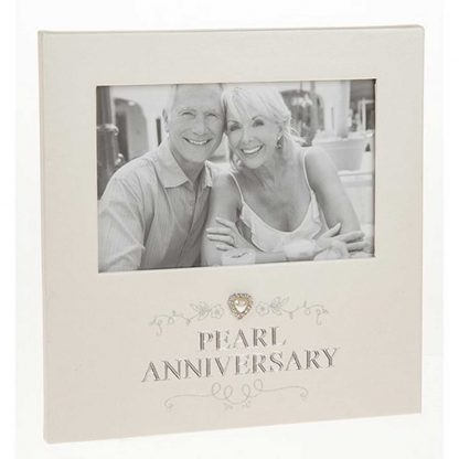 Pearl Anniversary Photo Frame 6 x 4
