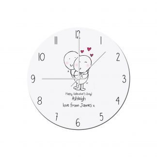 Personalised Chilli and Bubbles Valentines Day Clock