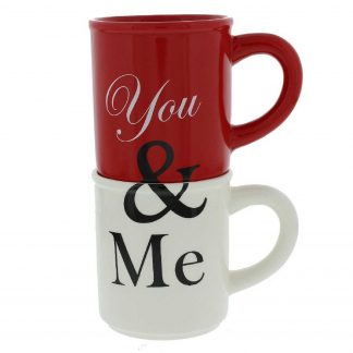 "Two Stacking Mugs ""You & Me"" CM299"