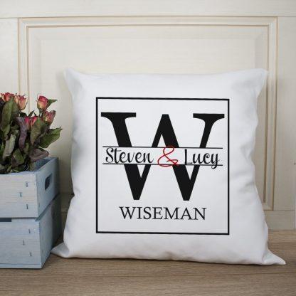 Couple Monogram Cushion Cover