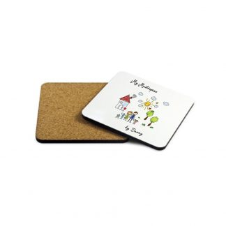 My Mini Masterpiece Personalised Artwork Wooden Coaster
