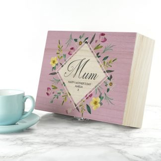 Personalised Botanical Mother's Day Tea Box