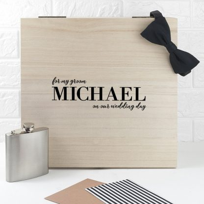 Personalised For My Groom on Our Wedding Day Box