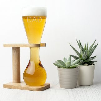 Personalised Quarter Yard Ale Glass