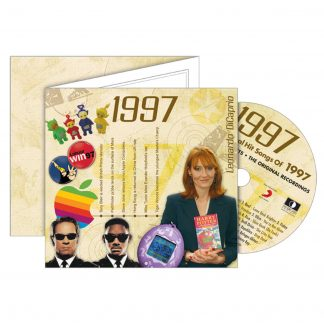 1997 Classic Years Greeting Card with Hit Songs, Download Code and retro CD