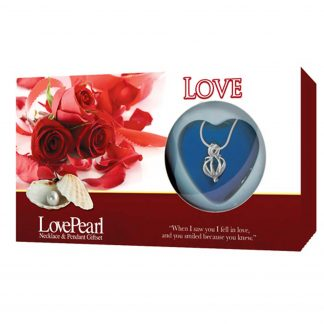 Love Pearl In Clamshell Locket & Silver Necklace Love Roses